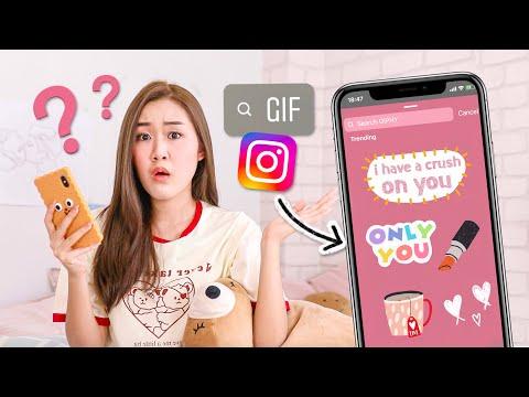 ทำ GIF ใช้เองลง IG Story ได้ด้วยหรอ?? Peanut Butter