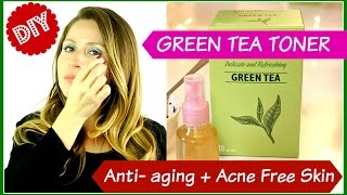 DIY Green Tea Toner: De-puffs+ Anti-aging + Heals Acne