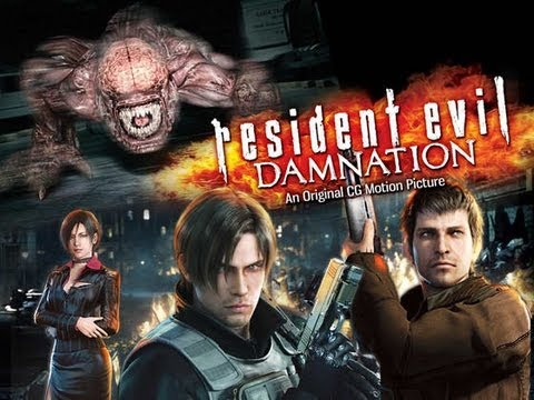 Resident Evil Damnation 2012 720p Bluray x264 Dual Audio AC3 ESub [Hindi + English] 885MB Download | Watch Online