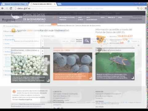 Portal nacional de datos de biodiversidad GBIF.ES: principales funcionalidades
