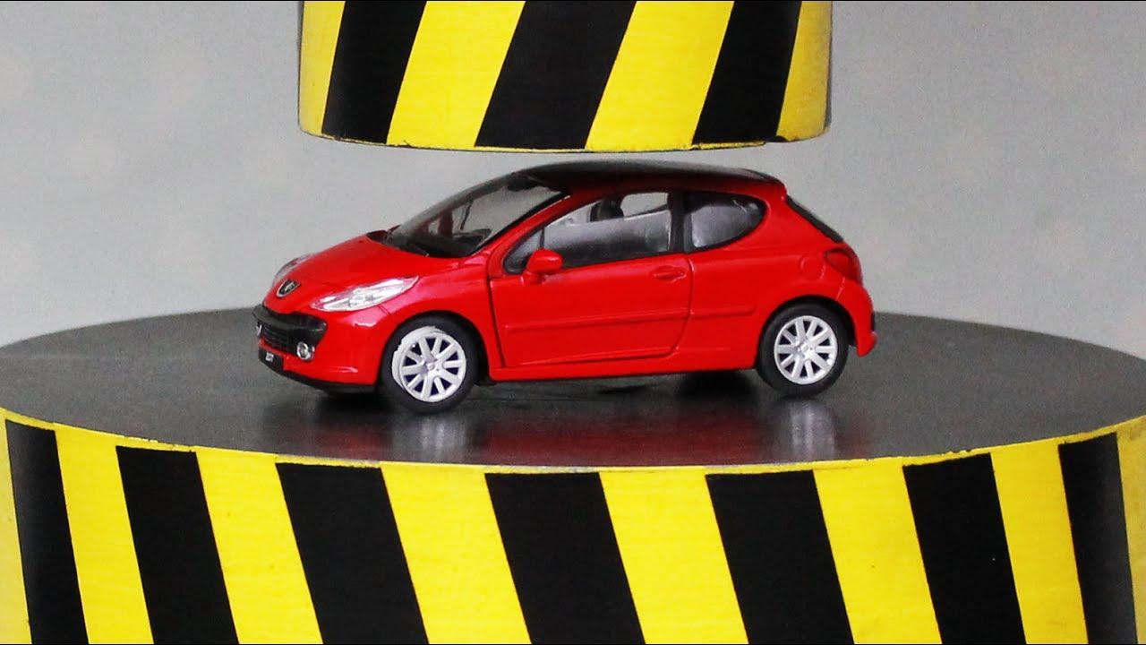 EXPERIMENT HYDRAULIC PRESS 100 TON vs CAR and TOYS - YouTube