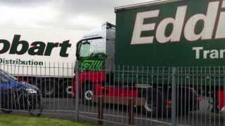 62 plate Eddie Stobart Mercedes, Molly Grace H2743, trying to leave Tesco, Blackburn, @ 6:10pm
