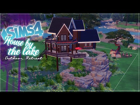 House by the lake, Outdoor Retreat - Speed Build - The Sims 4