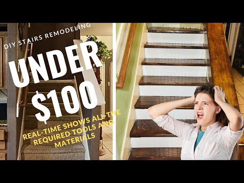 Carpet to Wood Stairs remodeling DIY YOU CAN DO IT