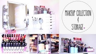 Makeup Collection & Storage | Vanity Tour ♡