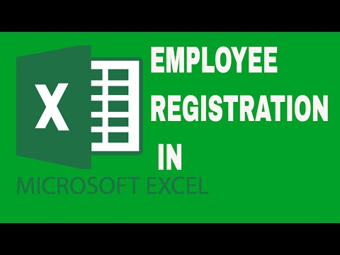 HOW TO MAKE EMPLOYEE REGISTRATION FORM IN EXCEL