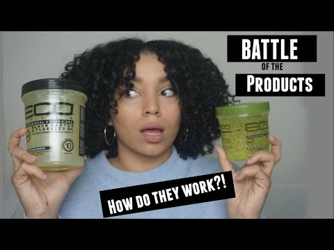 Eco Styler Olive Oil Gel vs Eco Styler Black Castor + Flaxseed Oil Gel | Battle of the Products