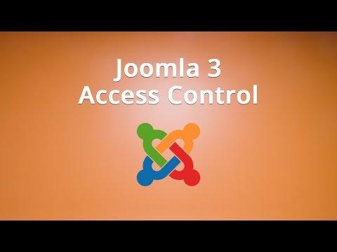 Joomla 3 Access Control