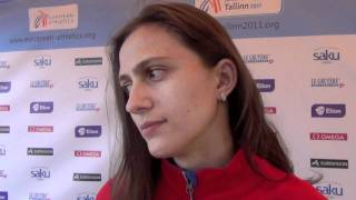 Maria Kuchina (RUS) after winning the High Jump