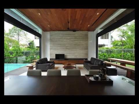 Stylish Bungalow Inspired Residence in Singapore  Sunset Terrace House