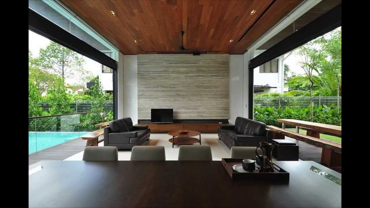 Stylish Bungalow Inspired Residence In Singapore Sunset Terrace House