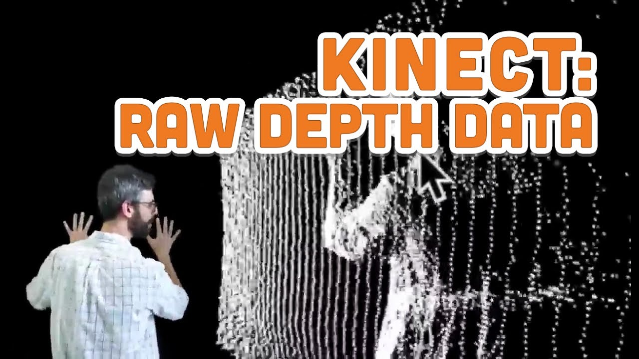12 3: Raw Depth Data - Point Clouds and Thresholds - Kinect and Processing  Tutorial