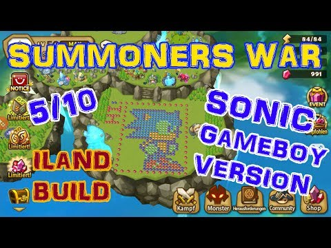 Summoners War /// Sonic Island Build - Difficulty 5/10 /// Build Him! :)