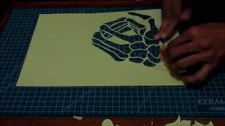 Paper Cut - Hand Skeleton