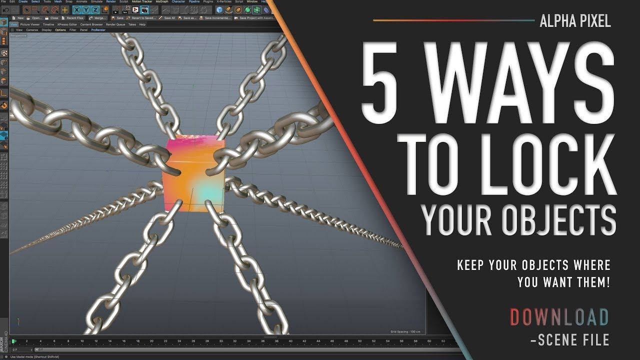 5 Ways To Lock Objects in Cinema 4D - Renderosity Magazine