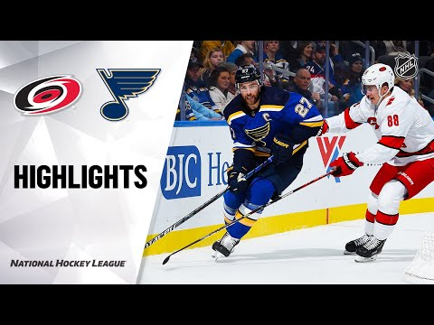 NHL Highlights | Hurricanes @ Blues 2/4/20