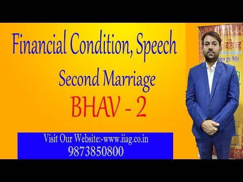2nd House - Speech, Financial Condition, Second Marriage etc.(with K.P, Naadi & vedic Astrology)