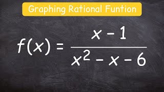 How to graph a rational function using 6 steps thumbnail