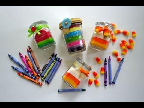 Diy c mo hacer velas con crayolas youtube - Como hacer velas ...