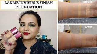 LAKME INVISIBLE FINISH FOUNDATION || ALL SHADES ||GIVEAWAY CLOSED