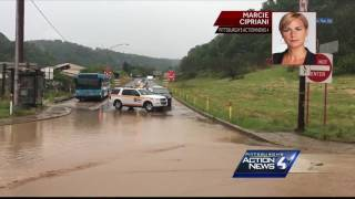 Flash flooding quickly fills streets with water in Baldwin area