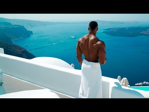 PUMPING IRON IN SANTORINI | Simeon Panda & Chanel Coco Brown