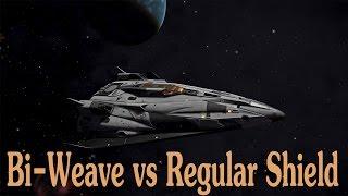 Elite: Dangerous. Bi-Weave vs Regular shields. Side by side comparison
