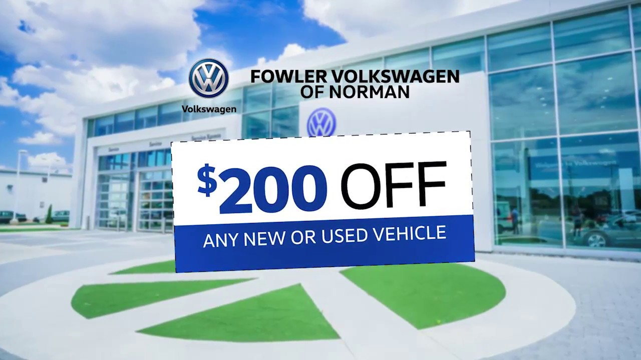 coupon  discount     vehicle fowler vw norman