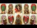 Christmas hairstyles! - New Year`s hair ideas. Новогодние красивые прически для детей.