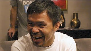 PACQUIAO LAUGHS AT THURMAN SAYING HE WANTS TO GO TOE TO TOE
