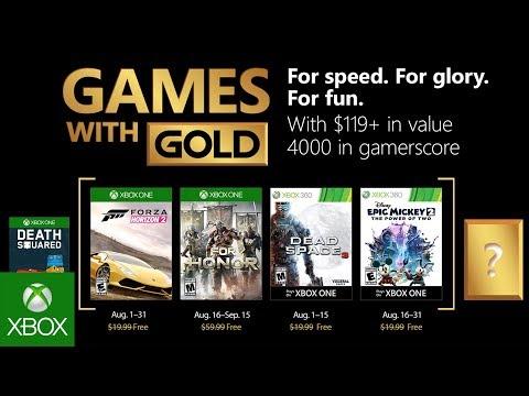 Список бесплатных игр по программе Games With Gold в августе