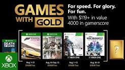 Xbox - August 2018 Games with Gold