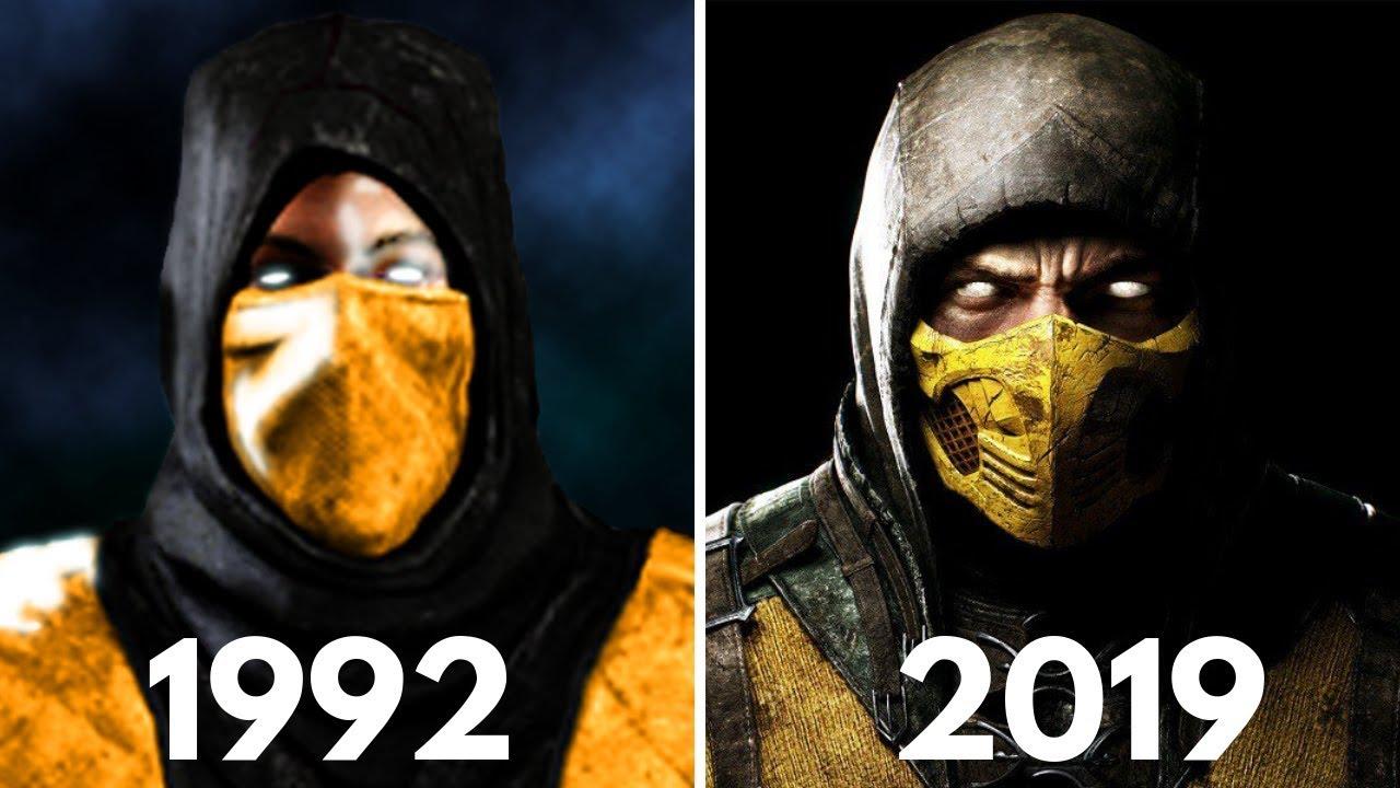 Mortal Kombat Scorpion Fatality Evolution 1992 2019 Youtube
