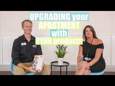 UPGRADING your APARTMENT with BEHR PRODUCTS - YouTube