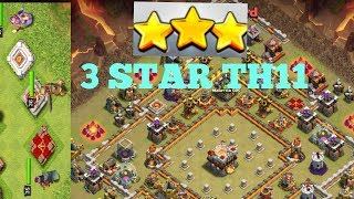Clash Of Clans-3Star War Attack Strategy- 3 Star t.h11 War Base| QueenWalk|GOHoWi|