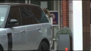 Coleen Rooney and her boys leave hospital