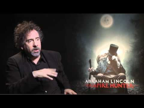 Abraham Lincoln Vampire Hunter - Tim Burton Interview (JoBlo.com)