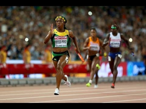 Jamaica beats USA and wins Women's 4x100m Relay Final IAAF World Championships Beijing 2015
