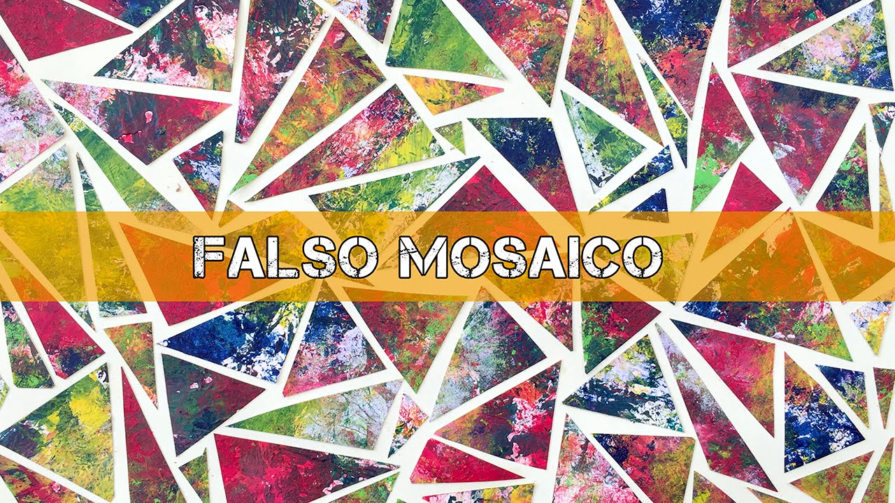 falso mosaico o vidriera dibujo para ni os youtube On como hacer cuadros de mosaicos