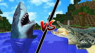 CASA DE TUBARÃO VS CASA DE CROCODILLO NO MINECRAFT!!