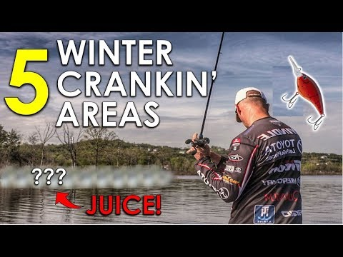Best Winter Bass Fishing Areas For Crankbaits