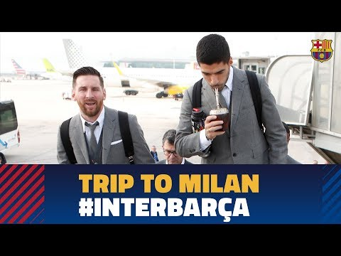 Barça lands in Milan ahead of the Champions League match aga