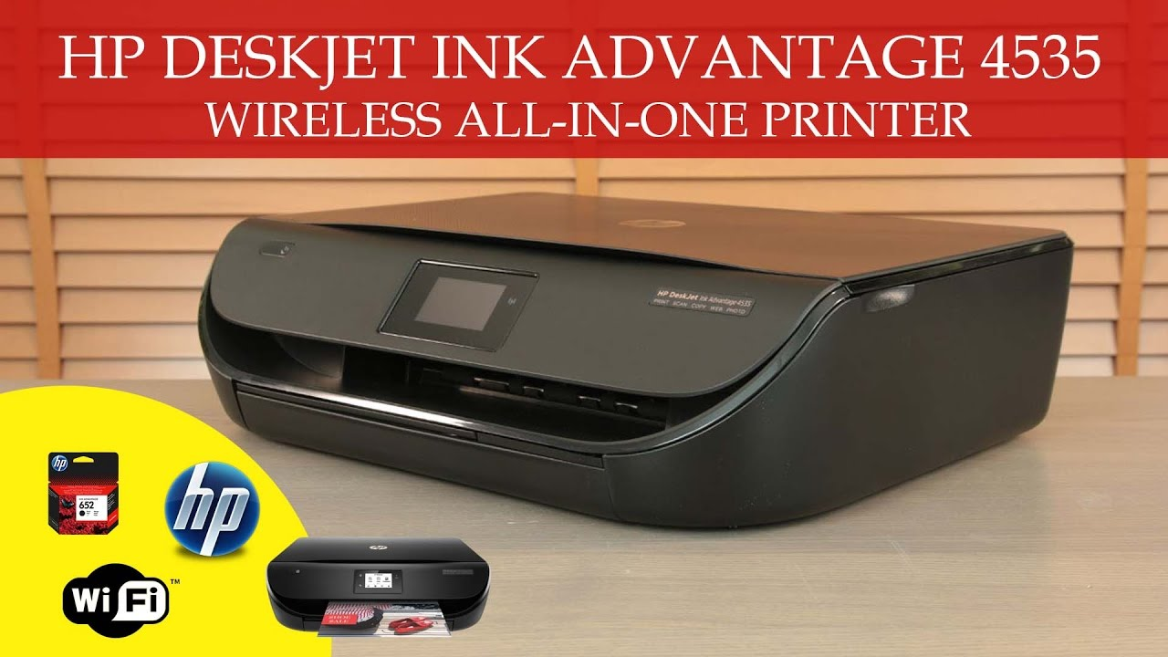 Hp Deskjet Ink Advantage 4535 Wireless All In One Printer