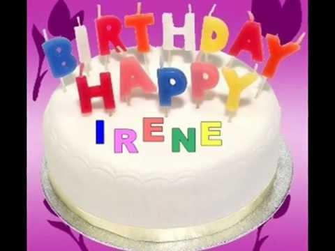 happy birthday irene Happy Birthday Irene   YouTube happy birthday irene