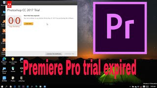 How to get Unliṁited free Trials software on Adobe Premiere pro