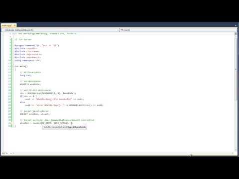 C++ Netzwerkprogrammierung: Winsock TCP Server, Sockets - HD german deutsch