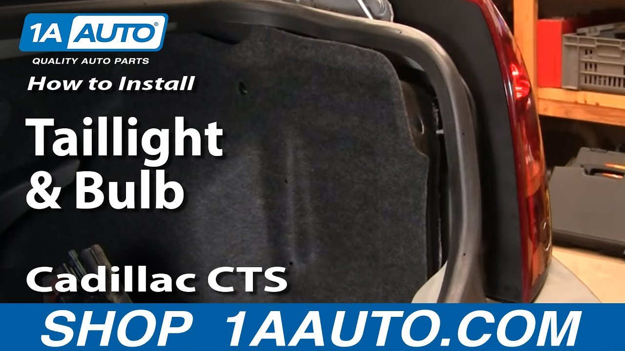 how to install replace taillight and bulb cadillac cts 03
