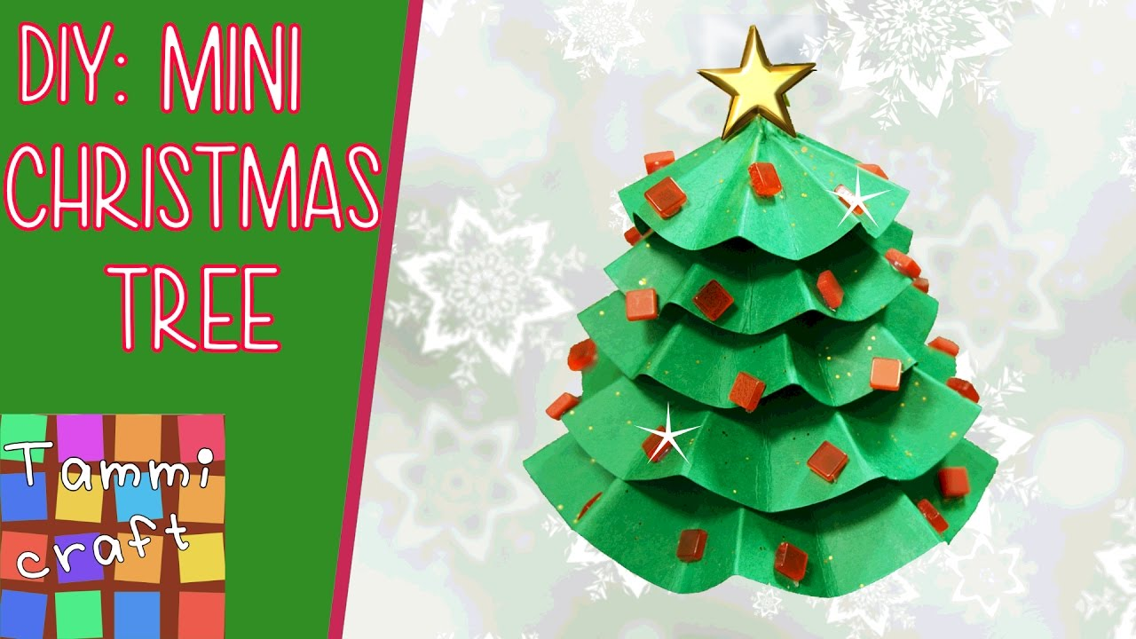 How to Make a Mini Paper Christmas Tree - DIY Tutorial ...