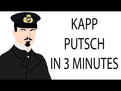 Kapp Putsch   3 Minute History
