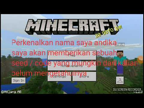 Seed Kode Rahasia Minecraft Pe Youtube